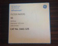 کاغذ صافی grade 41 , با قطر 125mm ساخت کمپانی whatman